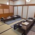 【松】最大16名様までのお座敷個室★4×4のお席にもなります。隣の個室とつなげることも可能!人数に合わせて対応できます。