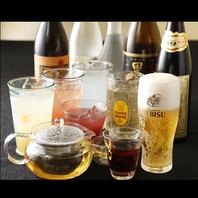 生ビール付き40種類以上飲み放題も充実