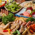 ローストビーフやチキンステーキ、ソーセージグリルなど絶品肉料理が食べ放題!飲み放題付きでお得なコースを多数用意しています!