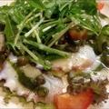 料理メニュー写真関門ダコのカルパッチョ
