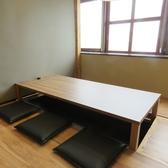 4~6名様用のお座敷掘り炬燵の半個室。