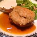 料理メニュー写真シカ肉の背肉ロースト、エピス風味