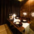 2名様~ご利用可能な和モダンの落ち着いた雰囲気の個室席です!優しい灯りが照らす落ち着いた雰囲気と共に当店自慢の料理・お酒をお愉しみください。