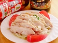 料理メニュー写真蒸し鶏のねぎオイルソース