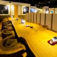 中規模宴会にもご利用いただける半個室のお部屋は、会社宴会にもぴったりです。