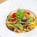 料理メニュー写真彩り京野菜のオイルパスタ