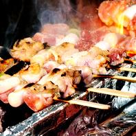 串職人が絶妙に焼き上げる炭火串焼き!