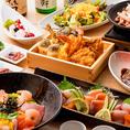 ■庵-Iori-■旬の天麩羅、特製海鮮ちらし寿司堪能コース【3時間飲み放題付き8品4480円】天菜がおすすめする贅沢メニューを取り揃えました!和の趣き溢れる個室で宴会を。こだわりのお料理と空間で存分に会話をお楽しみ頂けます。至福の3時間をぜひ。絶品づくしを心ゆくまでお楽しみください♪