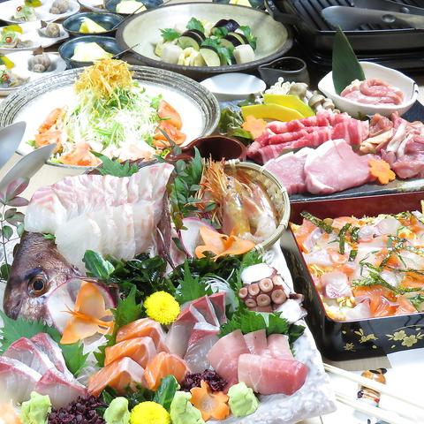 新鮮な海鮮料理が人気!弁天町駅チカでコスパ◎2H飲放付3300円(税込)~