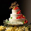 ウエディング特典として「シャンパンタワー」や「ウエディングケーキ」など各種ご用意致しております。