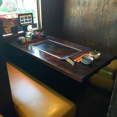 4名様のテーブル席です。