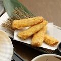 料理メニュー写真青森県産極甘とうもろこし 嶽きみの天ぷら