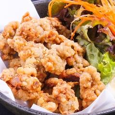 料理メニュー写真れんこんの肉はさみ揚げ(柚子塩、抹茶塩、秘伝の塩)(4個)/砂肝の唐揚げ