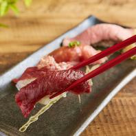 肉寿司1貫190円~!生でしか味わえない極上の美味しさ◎
