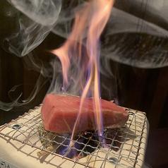 本マグロの藁焼き