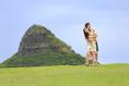 ハワイでのデートフォトも承ります!ハネムーンのカップルと楽しく1日、観光ドライブしながら撮影してまいります!108,000円~。