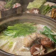 名物!濃厚な白濁鶏ガラスープの水炊き鍋