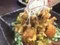 料理メニュー写真若鶏の唐揚げ葱ソース