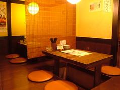 4名用テーブル座敷席 暖簾で仕切られた雰囲気抜群のテーブル!