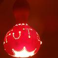 化粧室のライトは「FU~TO」のひょうたん!