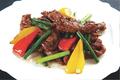 料理メニュー写真牛肉とニンニクの芽スパイシー炒め