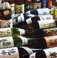 東北6県の日本酒をはじめ、本格焼酎も多数有り