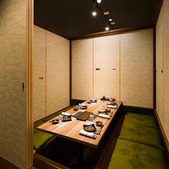 【堀こたつ個室:4~6名様まで】接待、会社宴会等、様々なシーンにご利用いただけます。