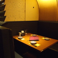 少人数様用の半個室風席※写真は系列店です