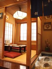 4名様まで入れる個室。