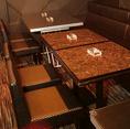 【テーブル席】総席数25席(カウンター×10、テーブル×15)完備!パーティ最大30名様までOK!20名様以上で貸切可能♪お客様のシーン・人数に合わせご案内いたします♪お席詳細・人数・ご予算など、お気軽にお問い合わせください♪※写真は一例です