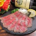 料理メニュー写真秋川黒毛和牛のたたき