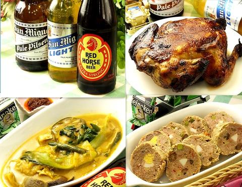 フィリピンから仕入れた食材で、フィリピン料理を堪能出来ます♪