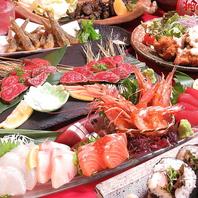 種類豊富な料理が魅力!刺身、串焼き、中華まで!