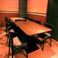 8名様までOKのテーブル個室。