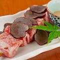 料理メニュー写真【おすすめ肉】佐賀牛ちょい炙り~濃厚トリュフソースorすきやきソース