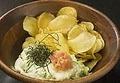 料理メニュー写真パリパリ明太ポテトサラダ