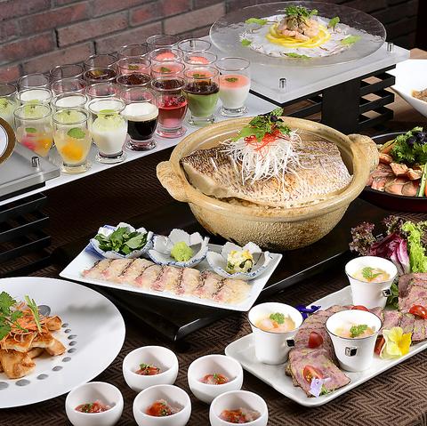 【ホテルこだわり料理のランチビュッフェ★】前菜、メイン、デザートなど全50種類食べ放題☆