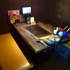 5名様のテーブル席です。