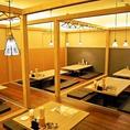 【店内貸切】札幌駅直結の居酒屋「ふうり」は大人数でのご宴会も対応可能!店内貸切は最大90名様までとなっております。貸切可能な最小人数に関しましては、お手数ですが店舗まで直接ご相談ください。会社の飲み会や同窓会、打ち上げなど様々なシーンでご利用いただけます!