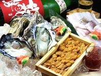 豊富な広島の地酒と海鮮料理やカキ・アナゴなど