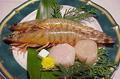 料理メニュー写真シーフード石焼 (車えび・帆立貝柱)