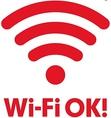Wi-Fiが無料で繋がります♪
