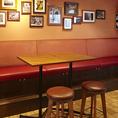 【4名様テーブル☆組み合わせで人数調整可】バル スタイルのハイテーブルで会話も弾んでお食事も楽しくなること間違いなし♪