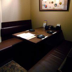 個室席完備!!最大3名様のボックス席もあります。