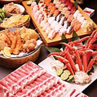 新鮮食材の食べ放題コースは2894 円~ ♪