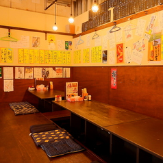 10名様前後の宴会席です。土浦駅西口から徒歩1分とアクセスしやすいところに立地しているので、各種宴会にもご利用しやすくなっております。