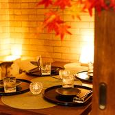 2名様~4名様でのご利用におすすめな和のテーブルタイプのお席となります。ゆったりとお酒を飲みながら、2人の時間を楽しめる空間。デートだけでなく、プライベート、少人数の飲み会、会社帰りのサク飲みにも好評です。