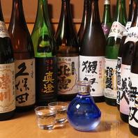 豊富な日本酒リスト