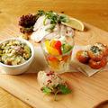 料理メニュー写真前菜5種の盛り合わせ