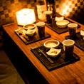 少人数様でのご利用にぴったりの個室席で今夜も楽しいご宴会を♪デートや記念日など幅広いジャンルにご対応させて頂きます。各種お得な特典多数ご用意致しております。お気軽にお問い合わせ下さい!静岡でコスパ抜群の和食居酒屋です◎